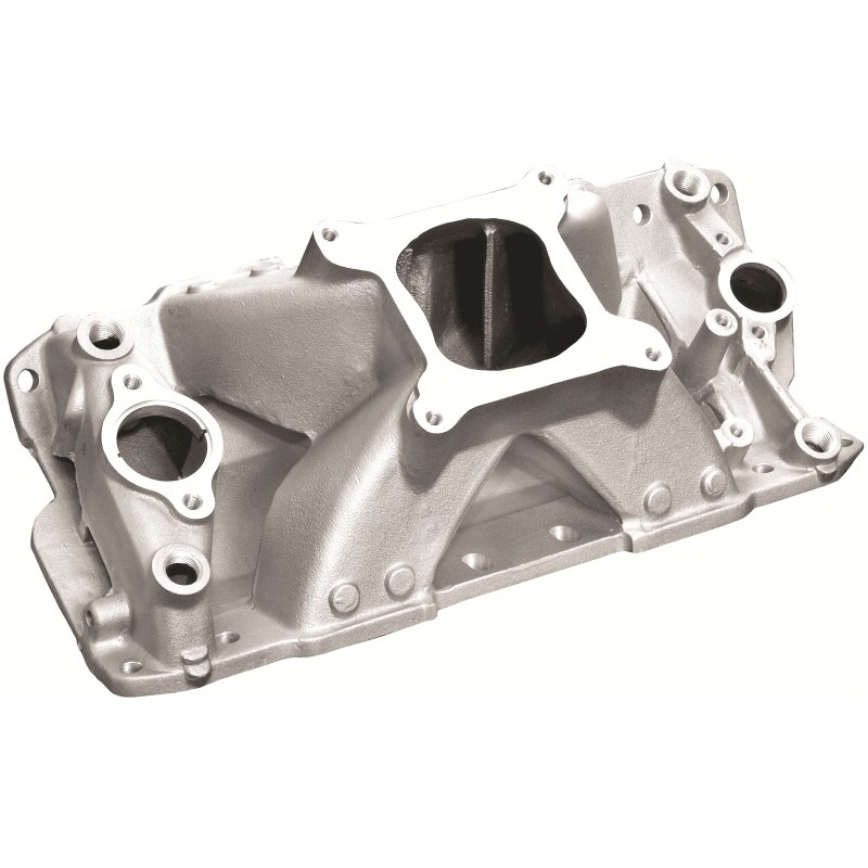 Small Block Chevy V8 Hurricane Intake Manifold Satin