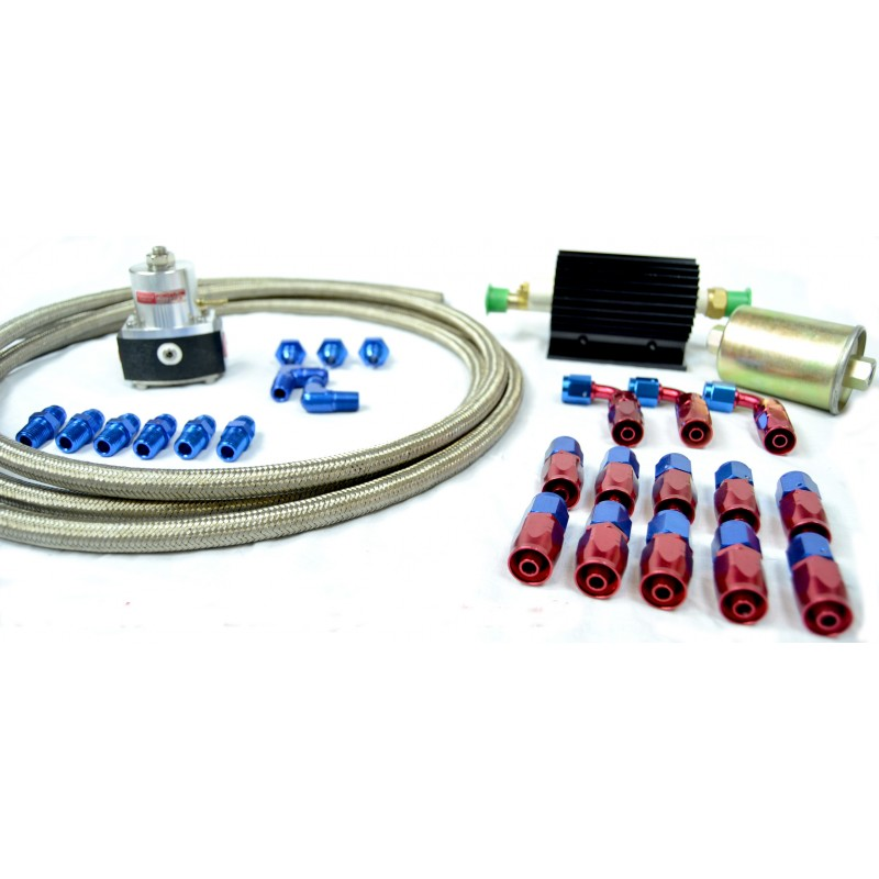 Fuel Delivery and Return Kit Fuel Delivery and Return Kit (Pump, Regulator, Filter, Fittings & Hose)