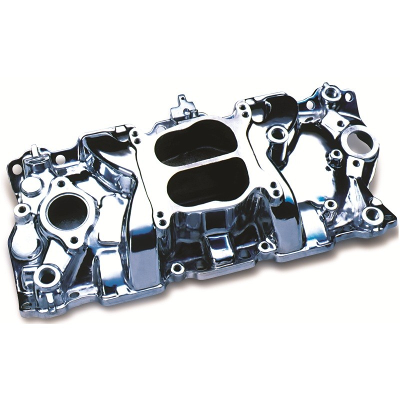 Small Block Chevy V8 Cyclone Intake Manifold Polished