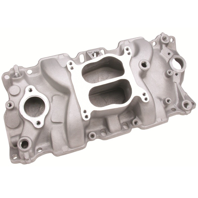 Chevy Small Block V8 Cyclone Intake Manifold -Satin