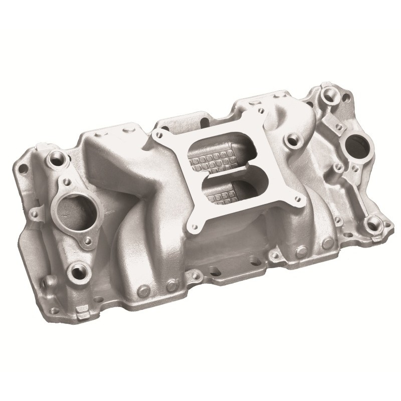 Chevy Small Block V8 Crosswind Intake Manifold -Satin