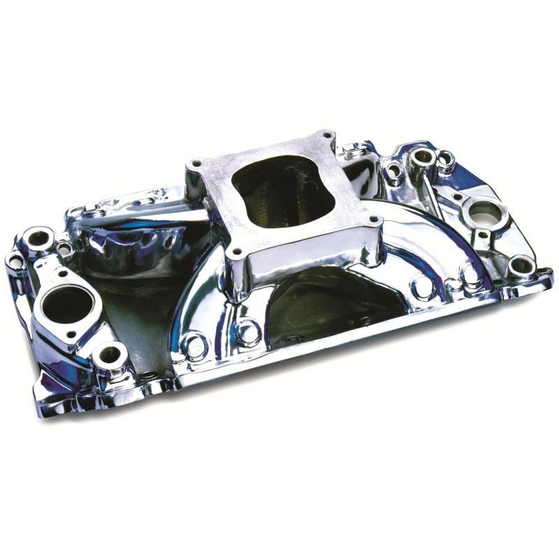Chevy Big Block V8 Hurricane Intake Manifold -Polished