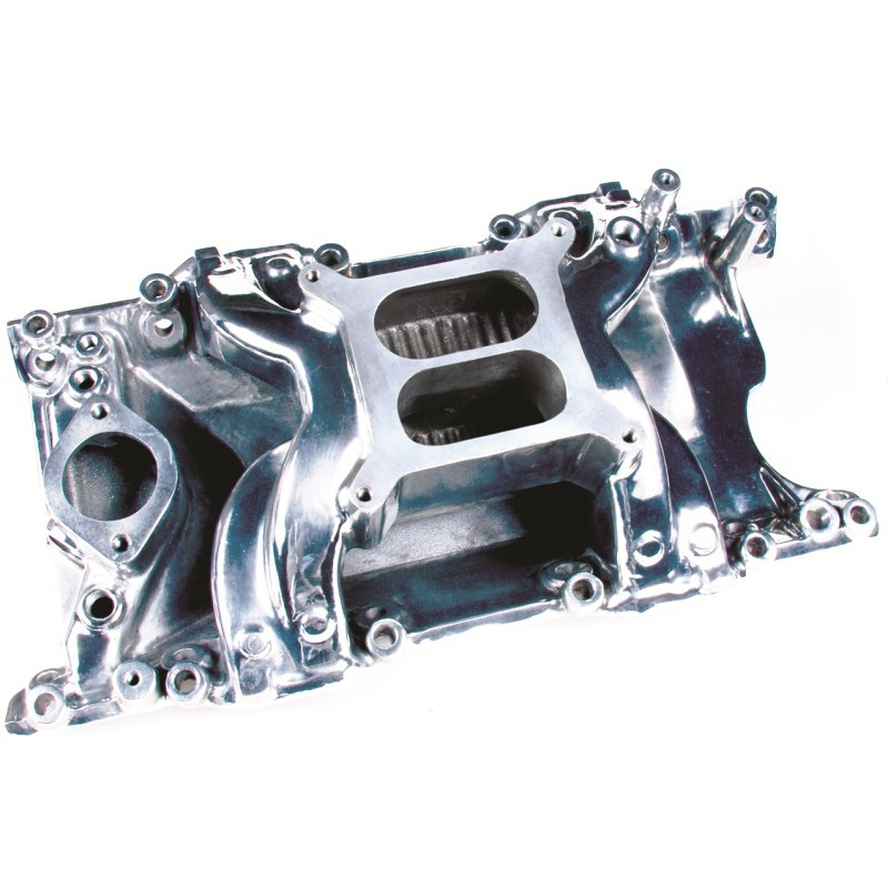 Small Block Mopar V8 Crosswind Intake Manifold Polished